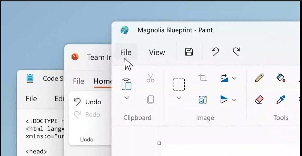 Microsoft mostrou rapidamente os detalhes dos novos Paint e Bloco de Notas.