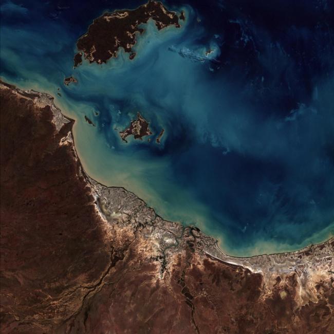 Imagem captada pelo Amazônia 1 mostra Burketown, na Austrália.