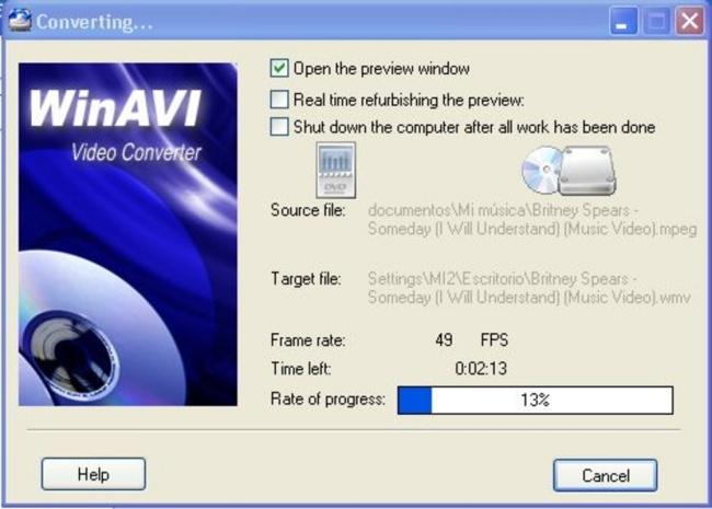 WinAVI Video Converter.