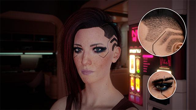 Modelo feminino de V restaurado com arquivos do jogo