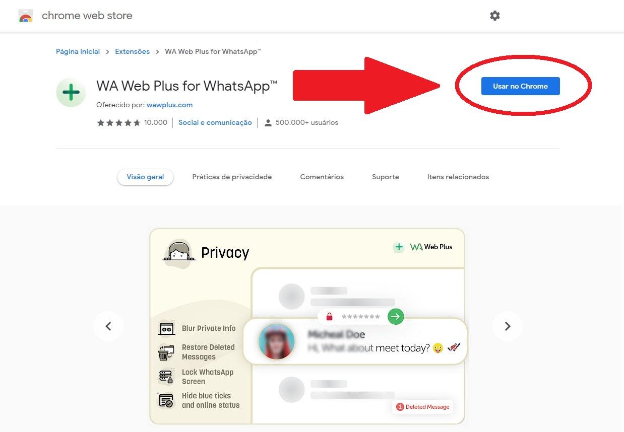 Debes activar la extensión para usarla en tu navegador