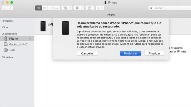 iPhone Restore.