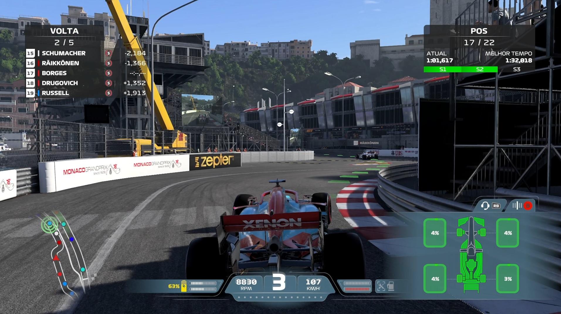 Por enquanto, F1 2021 traz apenas as pistas mais comuns das últimas temporadas