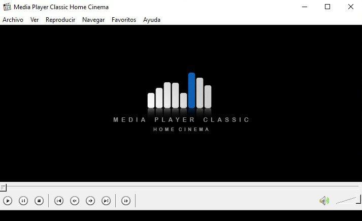 Tela Media Player Classic Home Cinema