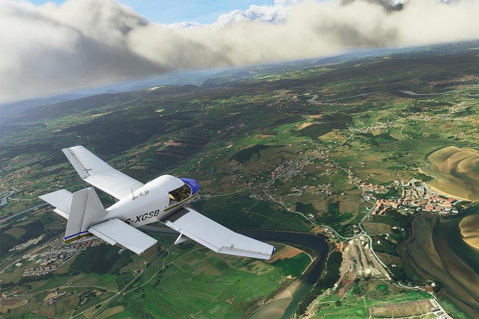 Microsoft Flight Simulator enfim é mostrado num Xbox Series S