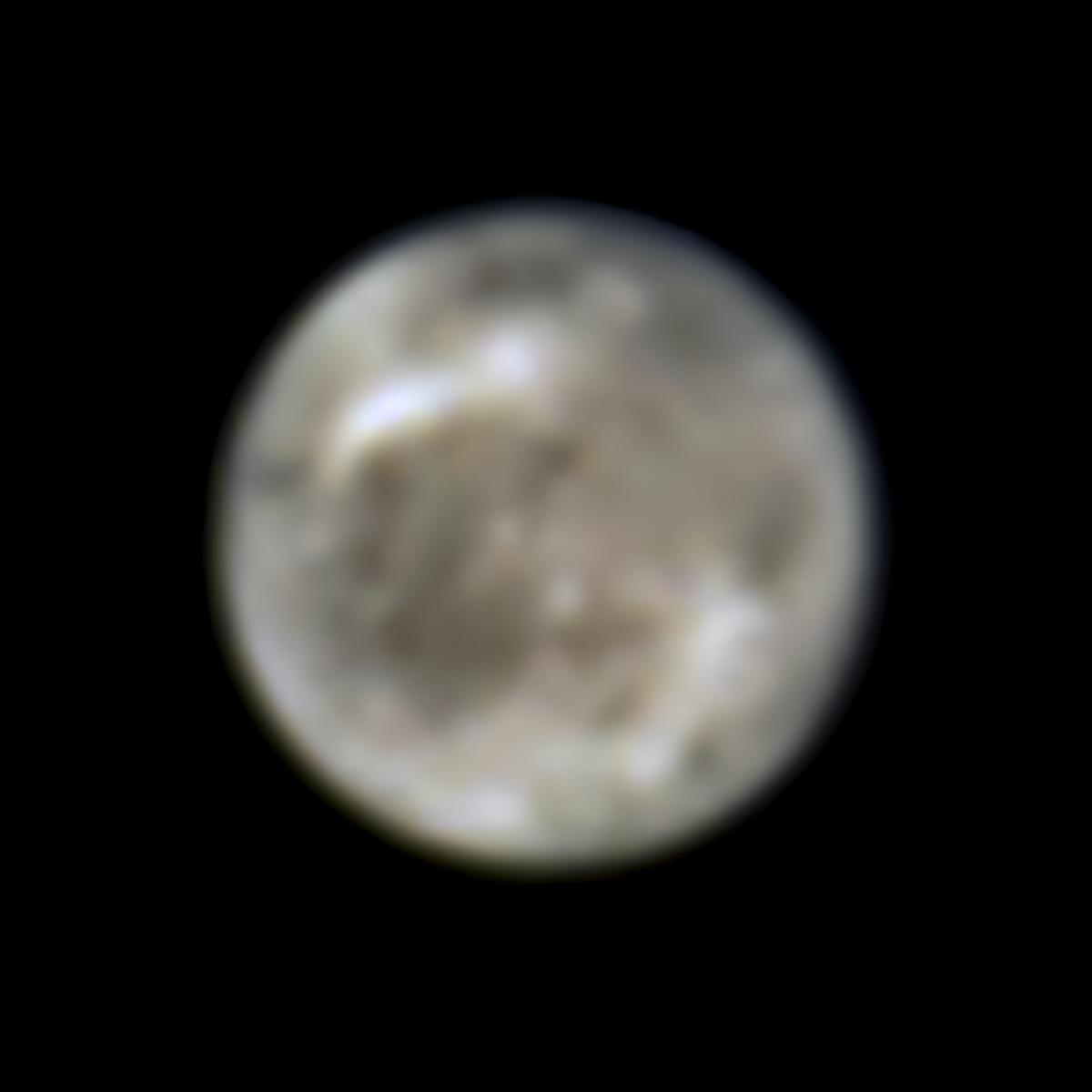 Imagem da lua de Júpiter tirada pelo Hubble em 1996