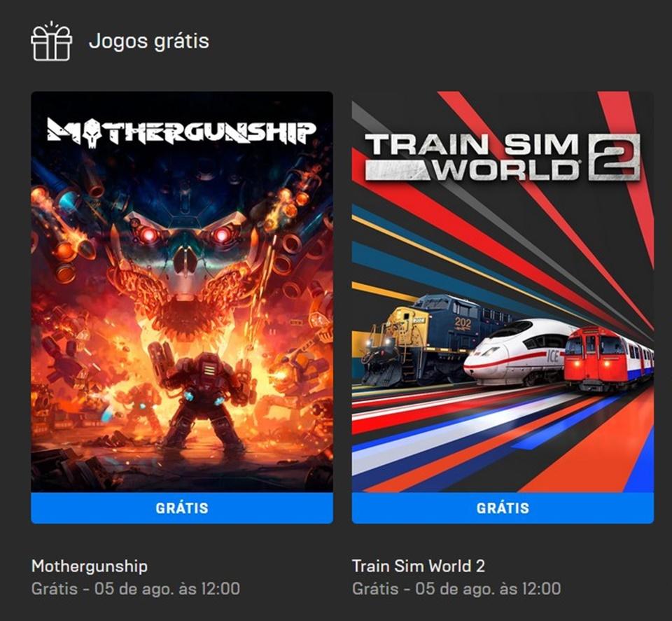 Mothergunship e Train Sim World 2 estão grátis na Epic Games para PC