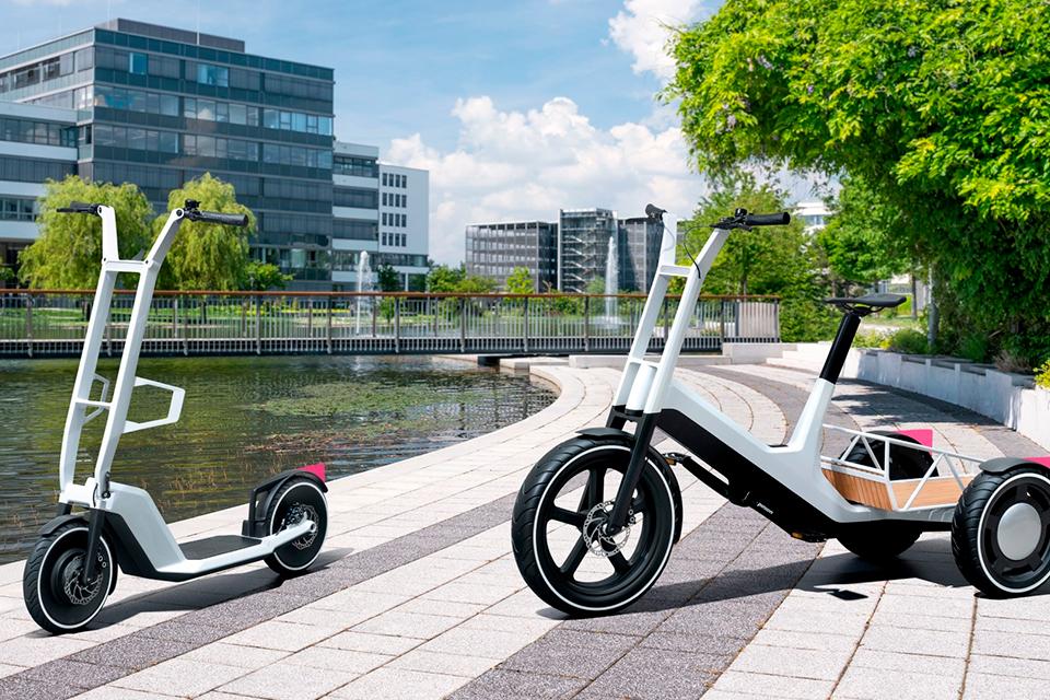 BMW revela novo triciclo de carga e patinete elétricos