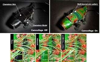 Like the chameleon in nature, the robot uses several layers of skin to display different colors. (Source: Nature Communications/Reproduction)