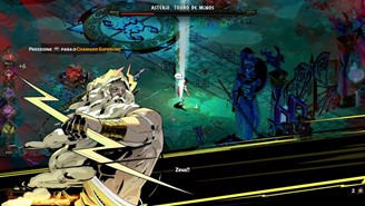 Zeus answering the Higher Call of Zagreus to defeat the Bull of Minos.