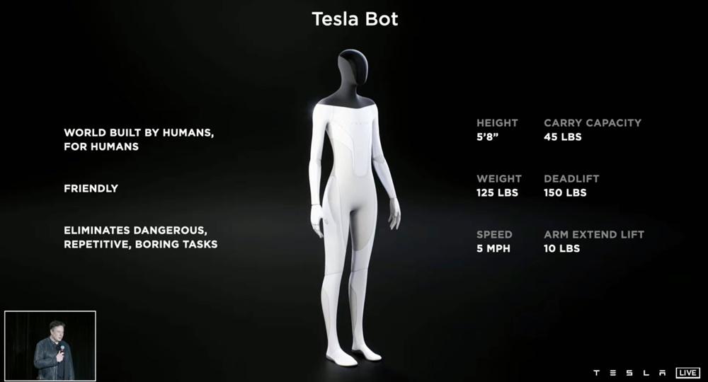 Algumas das características do robô
