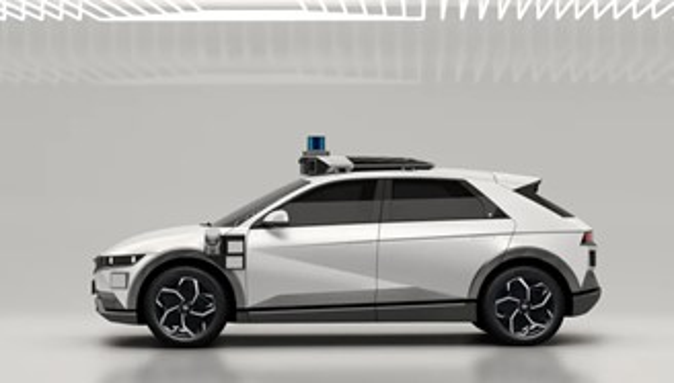 O carro da Hyundai com os sensores da Motional.