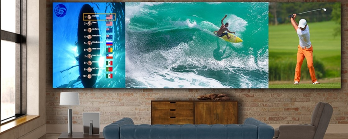 Imagem de: LG lança linha de TVs gigantes com tela de até 325 polegadas