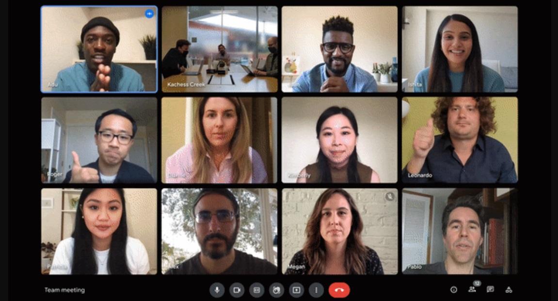 Google Meet: nova opção ajusta brilho de participantes da chamada