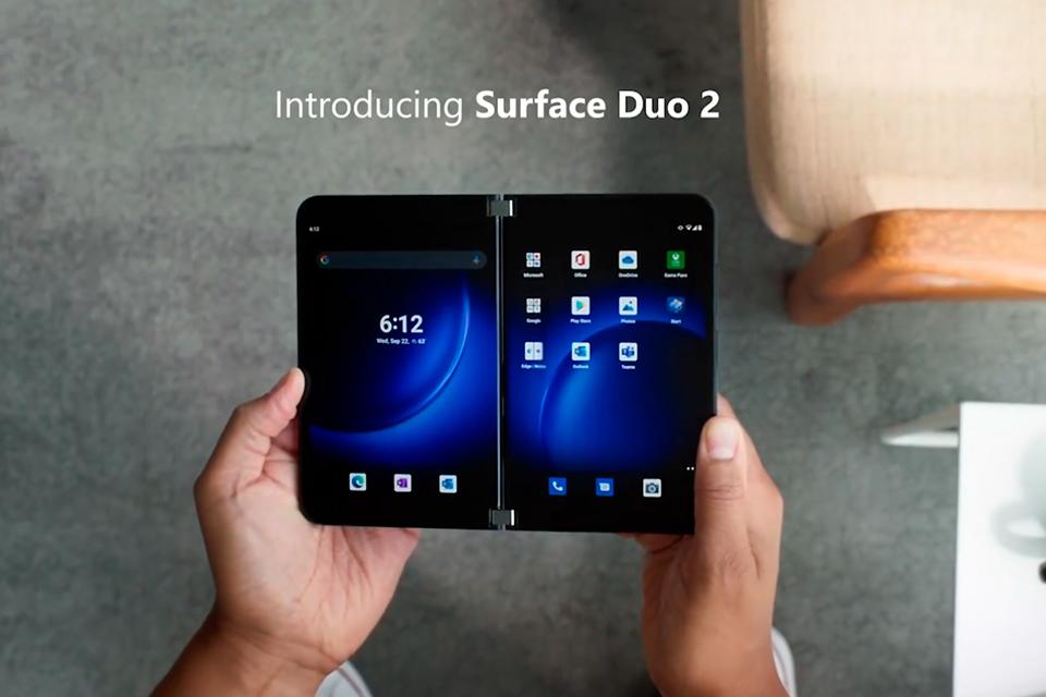 Microsoft anuncia Surface Duo 2, seu novo celular de duas telas