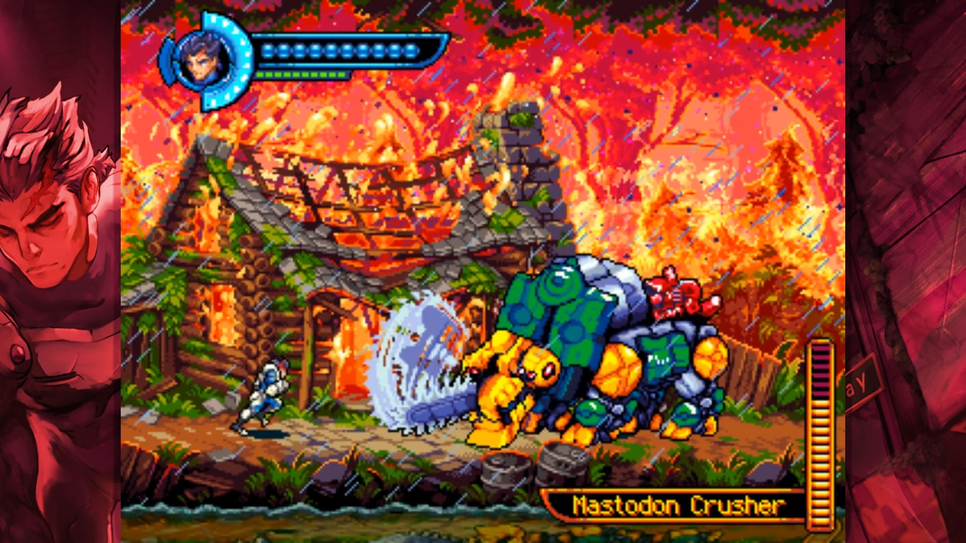 Even minor bosses display a high level of detail in art and animation.