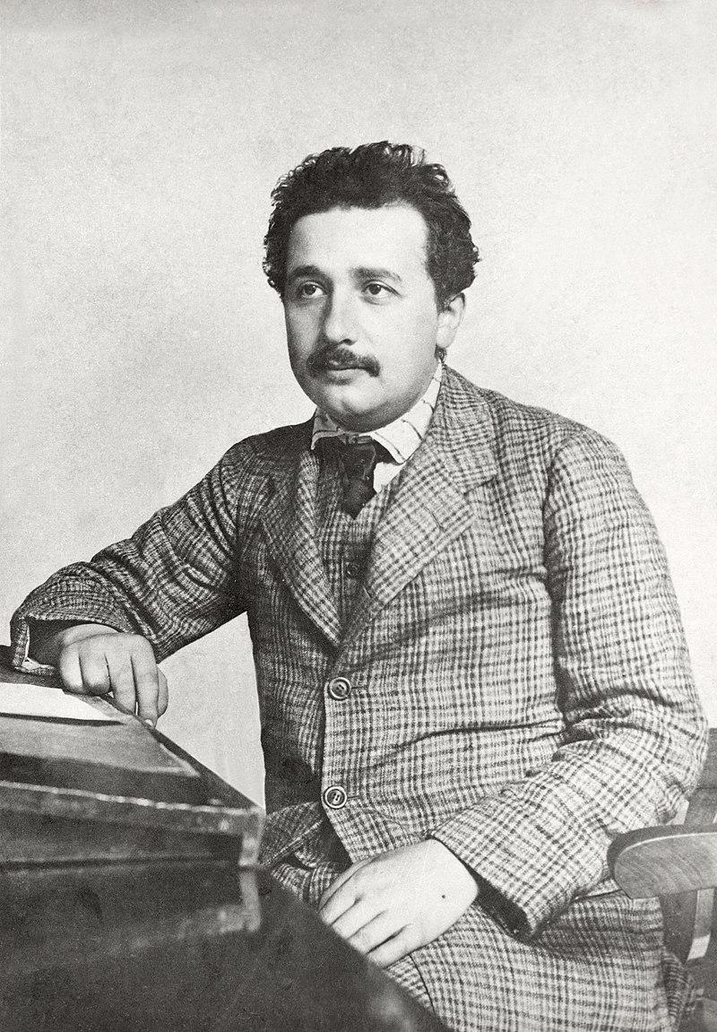 Einstein at the 1905 patent office in Bern, Switzerland