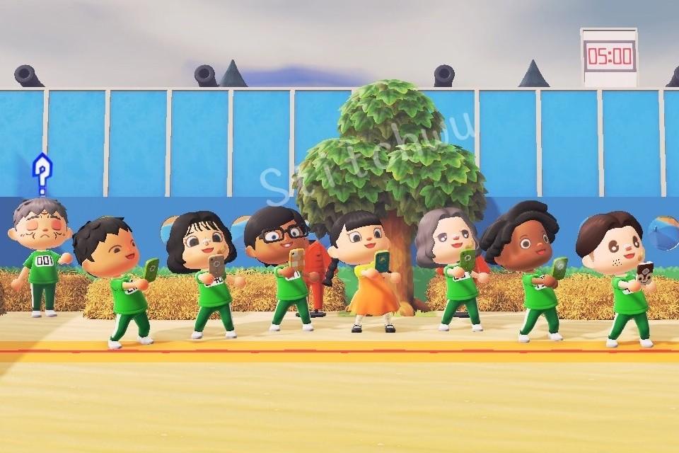 Squid Game, a série Round 6, é recriada em Animal Crossing!