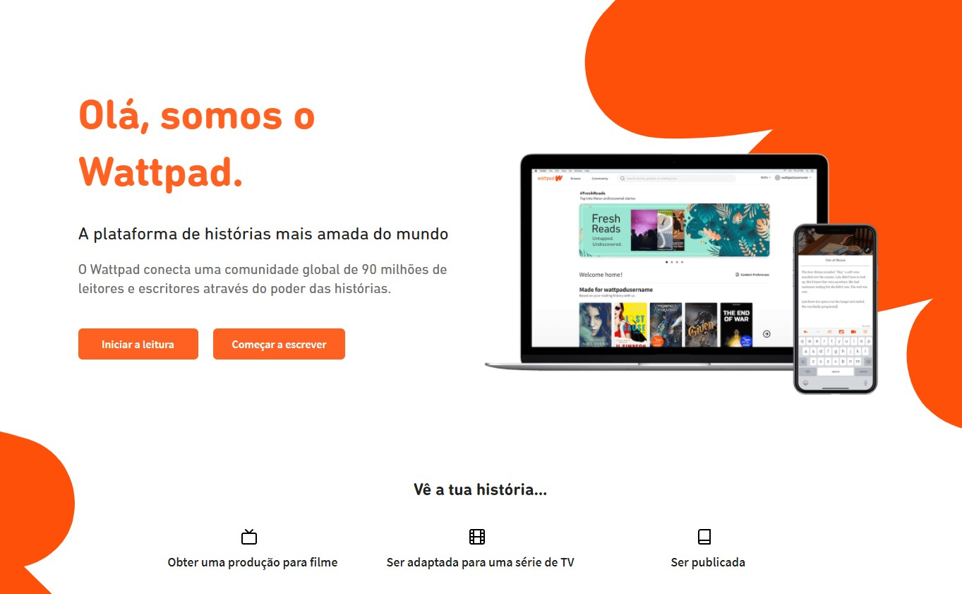 Wattpad main page