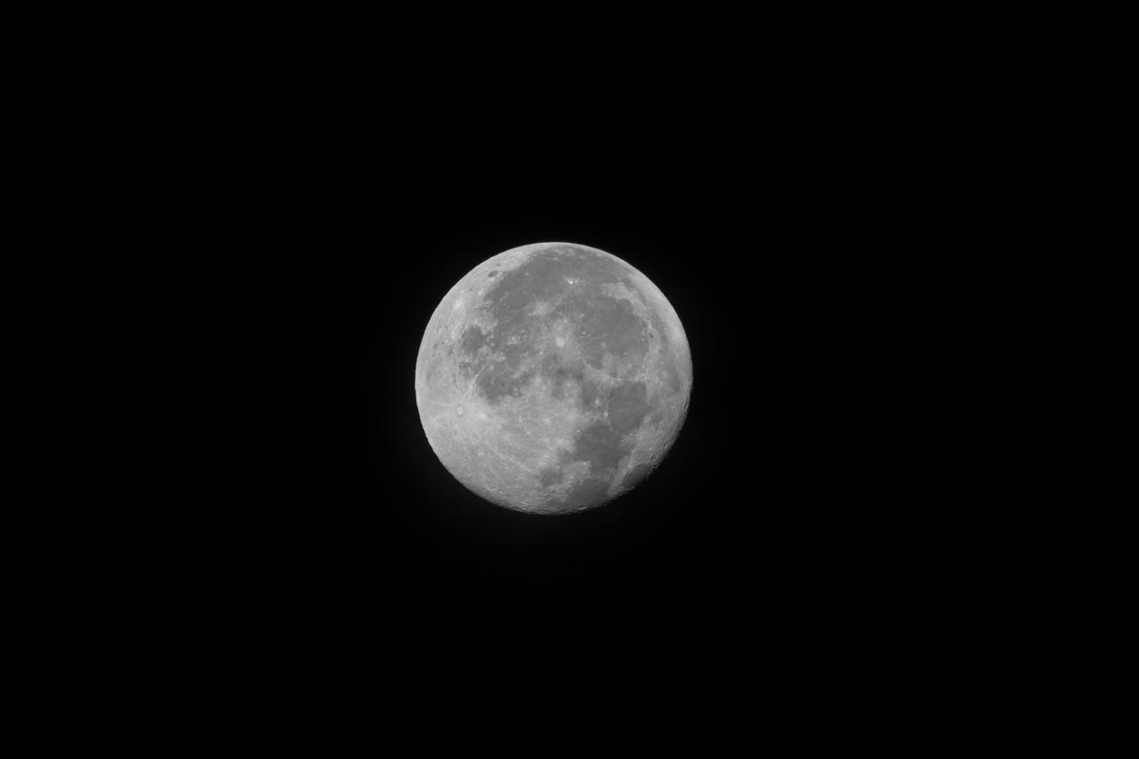 Full moon, photographed at Kennedy Space Center in Florida.