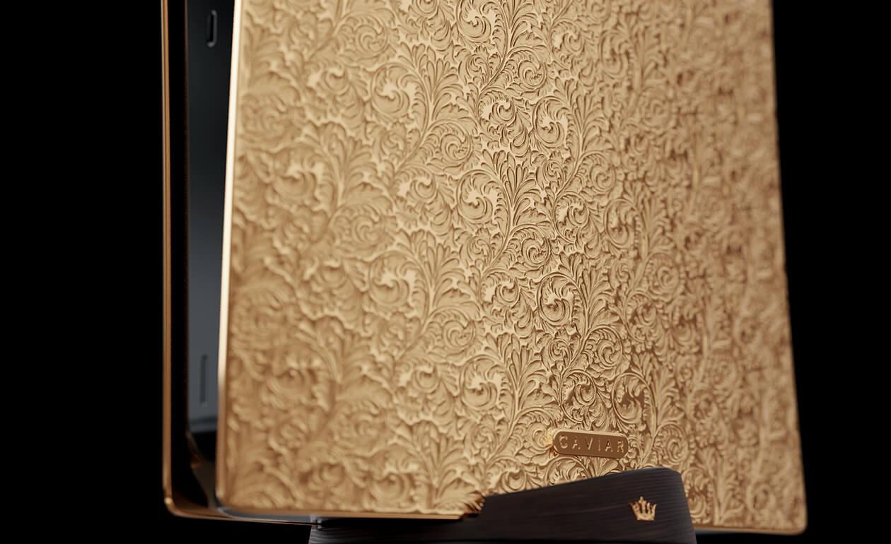 PS5 de 1,8 milhão é feito de ouro e tem controle com couro de crocodilo