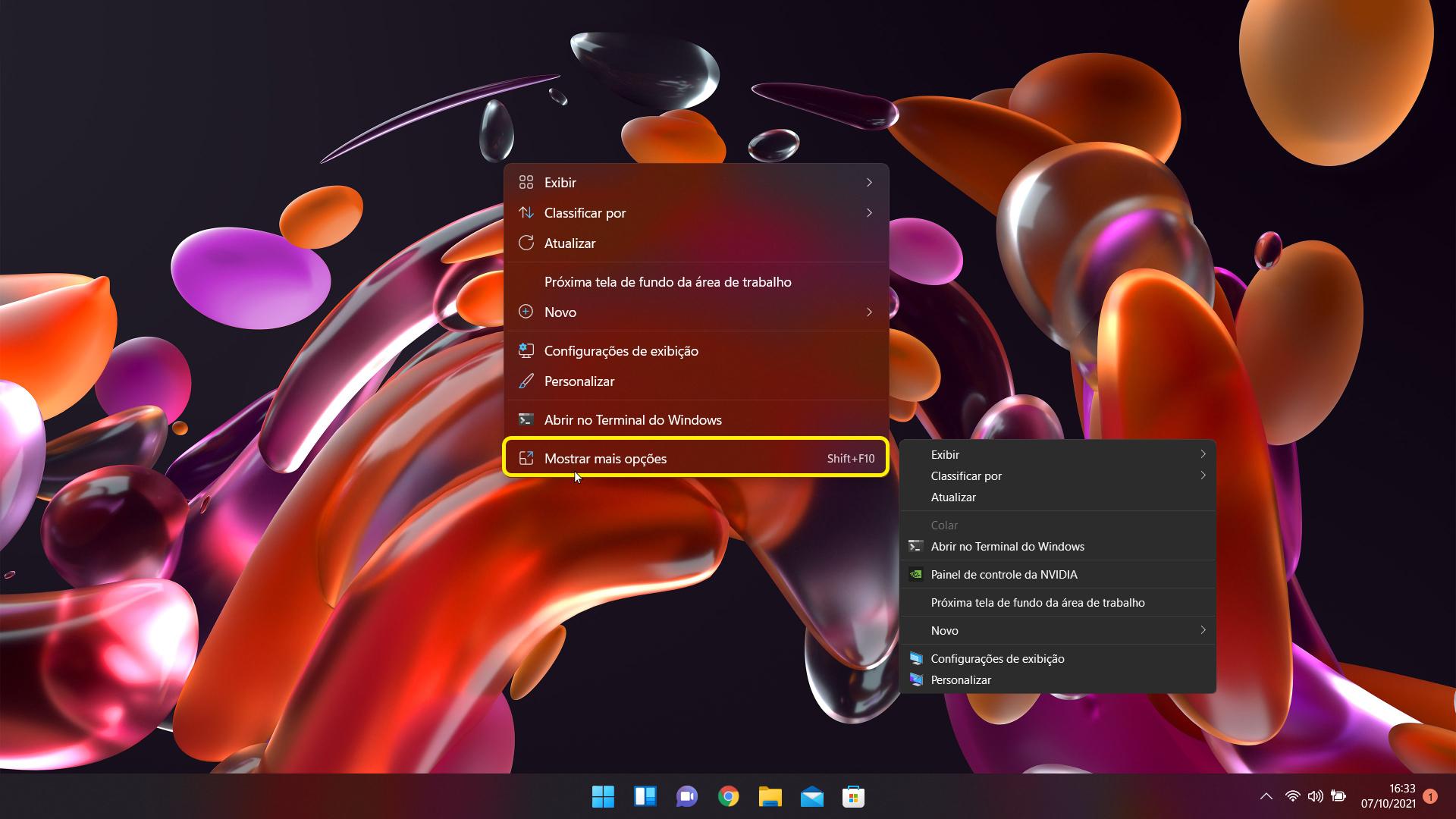 Um dos principais menus do Windows 11 esconde uma interface baseada no Windows 10.