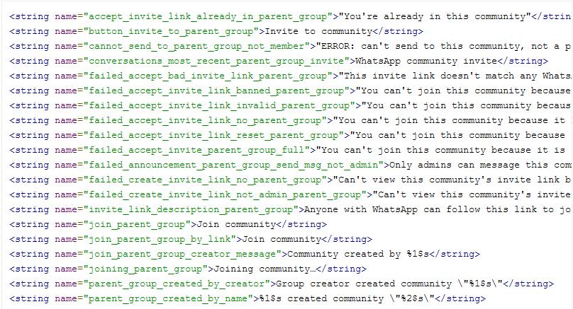 """Exemplo de códigos que exibem as novas """"comunidades"""""""