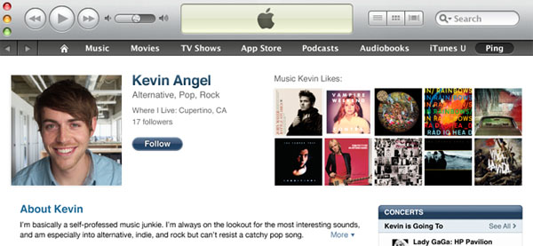 Novo visual do iTunes 10