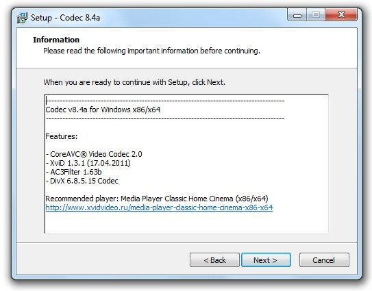 plugin codec megacubo
