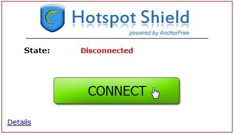 Conectando o Hotspot Shield