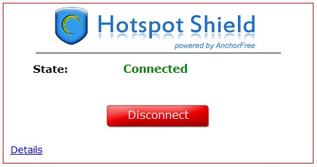 Hotspot Shield ativado