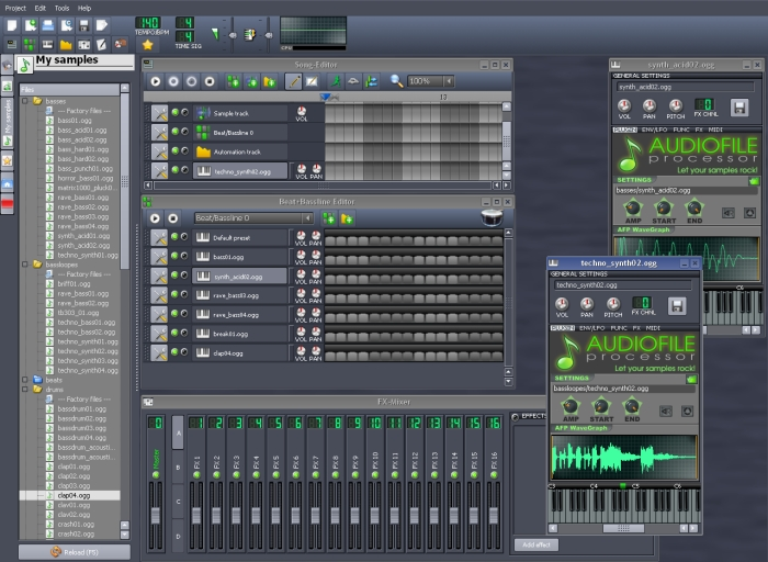 Interface do LMMS