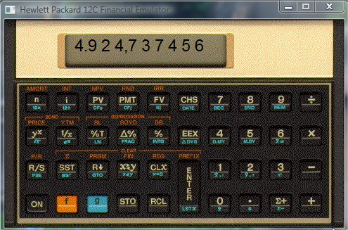 Interface da calculadora