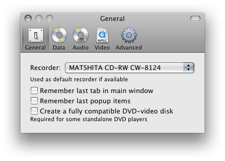 grabar un video en cd mac