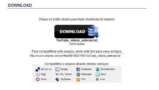 Página de download