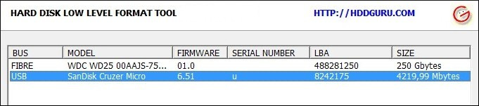 HDD Low Level Format Tool - Imagem 1 do software