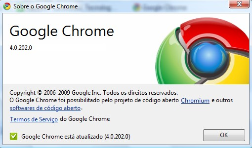 Sobre Google Chrome 4.0