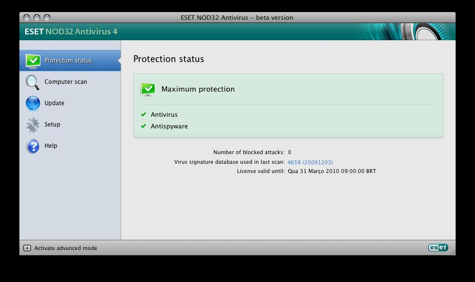 Nod32 Antivirus For Mac Os X Para Mac Download