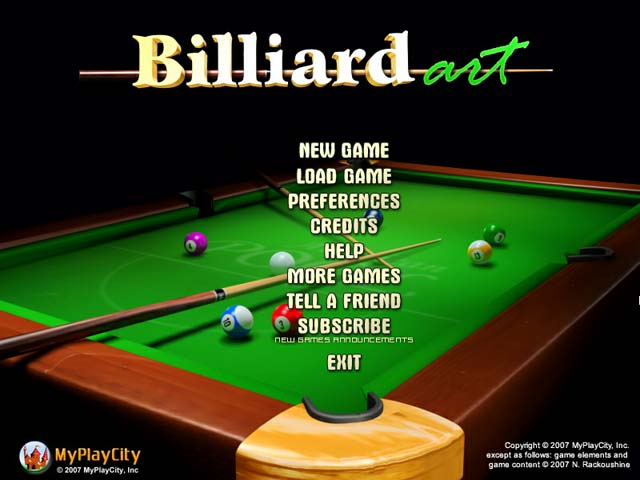 Visual de Billiard Art.