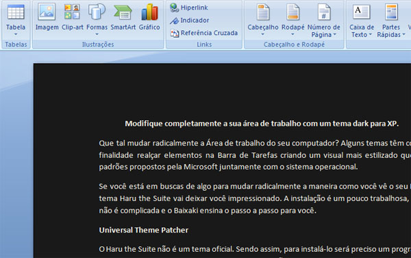 Microsoft Word modificado.