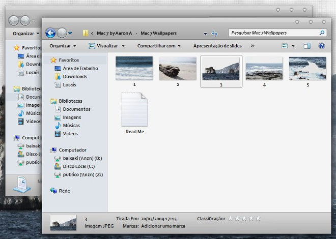 Windows com cara de Mac