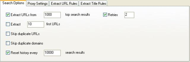 Search Options.