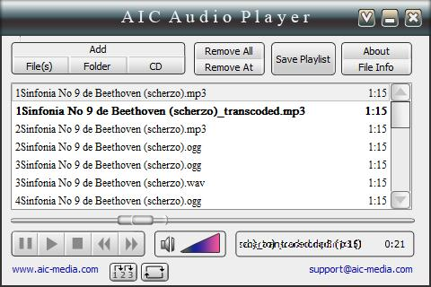 AIC Audio Player Download para Windows Grátis