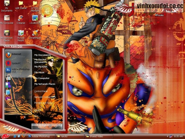 Naruto Theme For XP Download