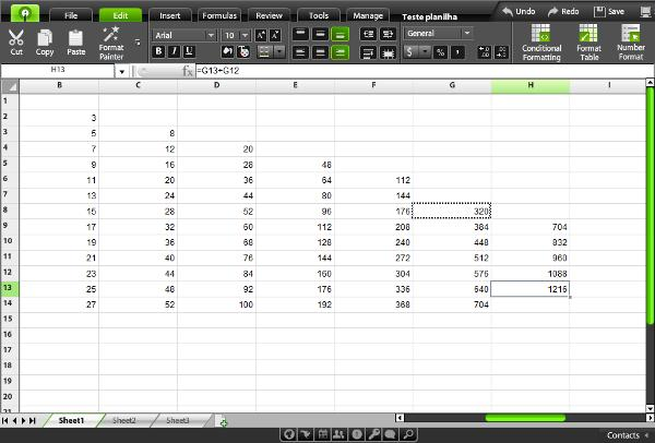 Live Spreadsheets