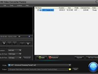 Interface do Free HD Video Converter Factory