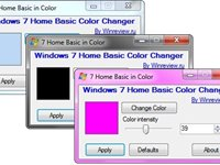 Imagem 1 do Windows 7 Home Basic Color Changer