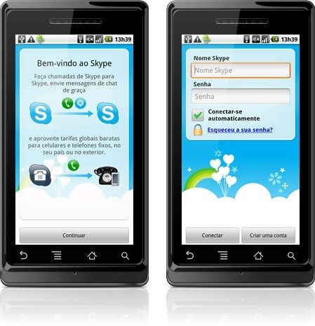 Skype para Android.