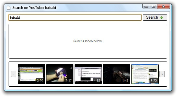 Search On YouTube - Imagem 1 do software