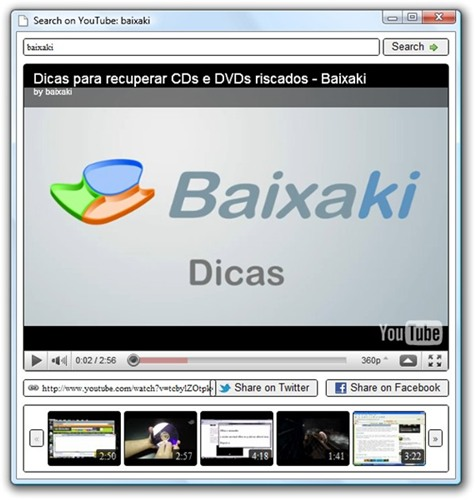 Search On YouTube - Imagem 3 do software